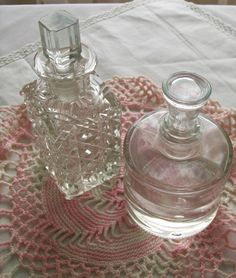 Vintage glass perfume bottle decanters  glass by NewtoUVintage