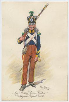 """Régiment Hessois """"prince héritier"""" Voltigeur Caporal 1808-12"""