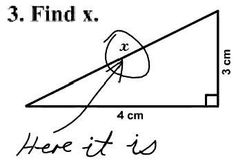 Obviously a plane geometry quiz taken by a US student.