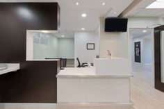 Allegra Dental Center architecture, design, and construction in Fairfax, Virginia | reception desk