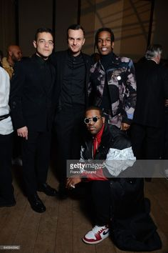 Rami Malek,Kris Van Assche,ASAP Rocky and ASAP Ferg attend the Dior Homme Menswear Aftershow Cocktail & Dinner Fall/Winter 2017-2018 show as part of Paris Fashion Week on January 21, 2017 in Paris, France.