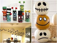 pumpkins/ toilet paper roll craft