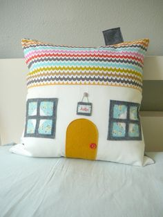 64 Sunny Day Ln  - House Pillow Cover.