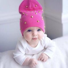 Sweet sweet baby, but PLEASE lose that cap with the metal studs!!!