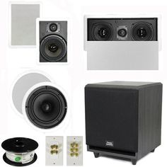 """5.1 Home Theater 8"""" and 6.5"""" Speaker Set with Center, 10"""" Powered Sub and More TS6W8CL51SET5 by Theater Solutions. $366.99. Specifications2 TS65W In Ceiling/Wall Speakers6.5"""" Woven Kevlar Driver with 32-20,000 Hz Range200 Watts RMS and 400 Watts Max per pair93dB SensitivityWall Cut Out Size is 10.5"""" x 7.125""""Overall Measurement is 12.125"""" x 8.6875""""Mounting Depth is 3""""2 TS80C In Ceiling/Wall Speakers8"""" Woven Kevlar Drivers with 30-20,000 Hz Range250 Watts RMS and 50..."""