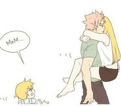 [Anime] : Fairy Tail [Manga] : Fairy Tail [Characters] : Natsu | Lucy [Subject] : Nalu and their son