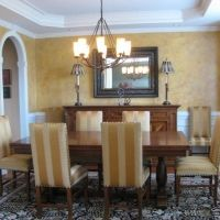 Tuscan Dining Room Designed by #RobertaFrankDesigns #Raleigh NC