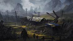Жизнь после смерти: мир постапокалипсиса в картинах Sci-Fi художников (25фото)