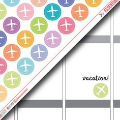 Plane Planner Stickers - Dot Icon - Erin Condren Life Planner - Happy Planner - Travel - Holiday - Vacation - Airplane - Matte or Glossy