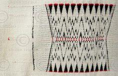 fine weaving detail of Ao tribe Nagaland shawl
