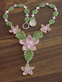 how to make the beaded leaf