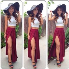Super hot outfit I& totally wear it but the hat just ruins it. Hot Outfits, Skirt Outfits, Spring Outfits, Fashion Outfits, Womens Fashion, Fashion News, Sexy Bikini, Pinterest Fashion, Fashion Killa
