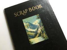 30's Spiral Scrap Book of Hotel Memorabilia by Hannahandhersisters on Etsy