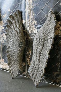 Concrete Giant Wall Hanging Angel Wings from Rockett St George Eminence Grise, Statues, Rockett St George, Lit Wallpaper, I Believe In Angels, Angels Among Us, Arte Popular, Angel Art, Angel Wings
