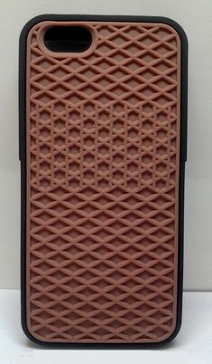 357c2ba88d Vans iPhone 6 Silicone Waffle Shoe Sole cover case (Brown with Black Border)