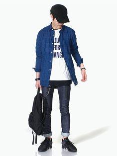 LOUNGE LIZARDのシャツ/ブラウス「C/R SHIRRING チェックシャツ」を使ったSessionLoungeLizard(LOUNGE LIZARD)のコーディネートです。WEARはモデル・俳優・ショップスタッフなどの着こなしをチェックできるファッションコーディネートサイトです。