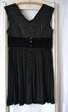 black dress upcycled clothing cotton gothic by smArtville on Etsy