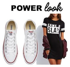 """""""Trendy"""" by ladyesquire ❤ liked on Polyvore featuring Charlotte Russe, Converse and powerlook"""