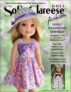 instructions to doll patterns Liberty Jane FREE T-Shirt Doll Clothes Pattern For WellieWishers Dolls American Doll Clothes, Girl Doll Clothes, Girl Dolls, American Dolls, Dolls Dolls, Boy Doll, Barbie Clothes, Doll Shoe Patterns, Pdf Sewing Patterns