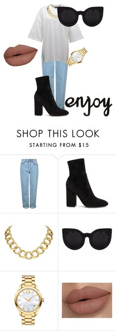 """""""Gold and Matte"""" by avery-22 on Polyvore featuring Topshop, Puma, Valentino, House of Harlow 1960 and Movado"""