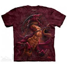 Unchained Dragon ArtWear T-Shirt Dragons, Dragon Kid, Cotton Tee, Graphic Tees, Shirt Designs, Horror, T Shirt, Halloween, Prints