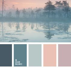 It is appropriate to apply this colour palette for a room decorated in chalet style somewhere in the mountains, because it has collected a cool hues that w. (color themes for wedding gray) Palette Pastel, Pastel Colors, Paint Colors, Colours, Pastel Shades, Pastel Pink, Sunset Palette, Soft Pastels, Soft Colors