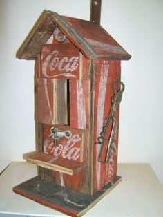 Coca Cola bird house - see? I really like unusual and outside the box stuff. The signs, boxes and other stuff is getting mundane