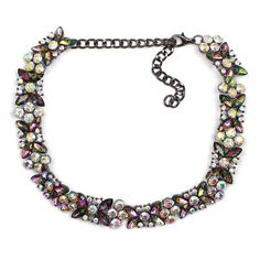 Material: Crystal Metals Type: Zinc Alloy Length: 15 with extender Main Stone: Multicolor Metal Color: Bronze Guaranteed safe and secured checkout Collar Necklace, Beaded Necklace, Pendant Necklace, Types Of Metal, Chokers, Bronze, Pendants, Chain, Crystals