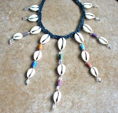 Hand Wired Braided Chevron Crystal Cowrie by KipajiPraiseJewelry, $35.00