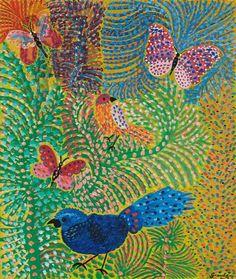 Pássaros e Borboletas  Artista : Grauben do Monte Lima