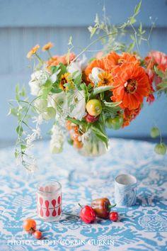 At the glorious Stonover Farm | Ariella Chezar | Corbin Gurkin | Orange Tangerine Blue