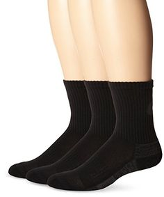 ASICS Contend Training Crew Socks 3Pack Medium Black -- You can get more details by clicking on the image.Note:It is affiliate link to Amazon. #SportAccessories