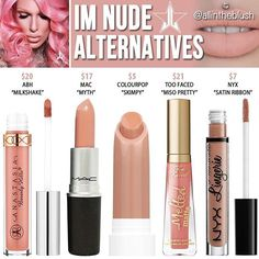 Dupes for Jeffree Star's I'm Nude lipstick @allintheblush