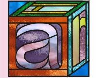Alphabet-Baby Blocks - A - Stained glass patterns