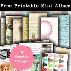 Sweetly Scrapped: {Free♥} Printable Mini Album Kit ~ x Mini Album Scrapbook, Scrapbook Paper, Scrapbooking Ideas, Digital Scrapbooking, Mini Albums, Digital Paper Free, Free Paper, Digital Papers, Mini Album Tutorial