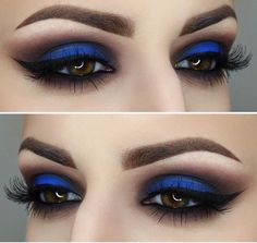 "Super inspired by this eyeshadow look - using ""Chaos"" from the Urban Decay Electric Palette."