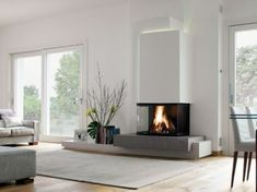Wonderful Pics Gas Fireplace bookshelves Ideas The next thunderstorm exterior may very well be frightening, but your hearth is really so delightful! Fireplace Bookshelves, Home Fireplace, Modern Fireplace, Fireplace Design, Fireplaces, Fireplace Glass, Cladding, Sweet Home, New Homes