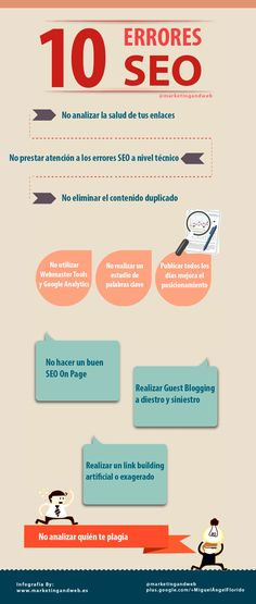 10 errores SEO #infografia via @marketingandweb