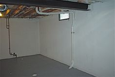 Basement before, just your everyday basement