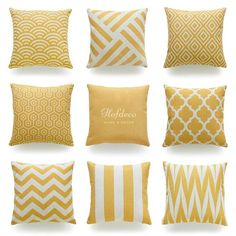 Decorative Throw Pillow Case Mustard Yellow HEAVY WEIGHT FABRIC Cushion Cover 18 #HOF #Contemporary