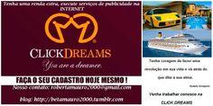 Furacão de oportunidades!!! Venha trabalhar conosco e tenha uma renda extra!!! Venha ser um Dreamer. (24) 99958-9076