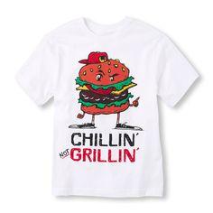 Boys Short Sleeve 'Chillin' Not Grillin'' Graphic Tee