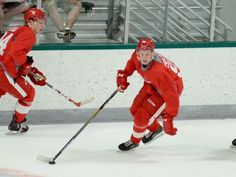 At Red Wings' prospect camp July 2016: Dennis Cholowski.  Brandon Folsom, Special to the Free Press.