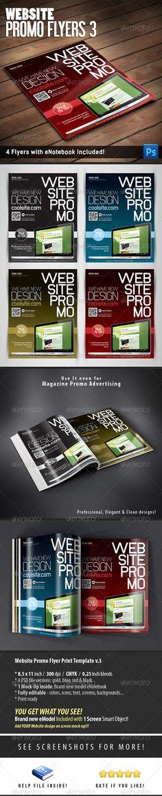 Website Promo Flyers v.3 — Photoshop PSD #app #windows • Available here → https://graphicriver.net/item/website-promo-flyers-v3/6286249?ref=pxcr