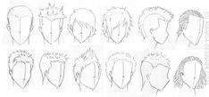 apprendre a dessiner des cheveux manga - Recherche Google