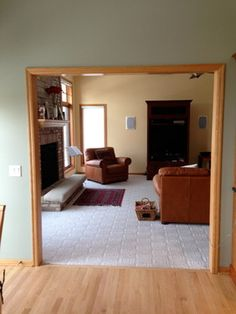 Living Room Colors With Oak Trim paint colors for honey oak trim | here is the room before. | paint
