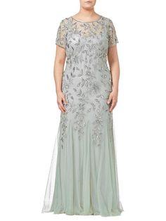 12628229f108 Adrianna Papell Floral VINE Bead sequin Godet Maxi Dress  AdriannaPapell   MaxiDress  weddingspecialoccasion Adrianna