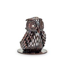 Artisaani pöllö Tuoksutikuille   P92528   Metallia. Korkeus 9 cm.