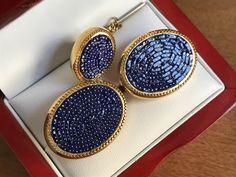 RARE Original Vintage SWANK Italian Mini-Mosaic Cufflinks by CremedelaCuff on Etsy