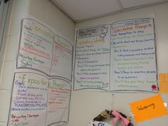 NJ ASK Anchor Charts - speculative and expository writing prompts
